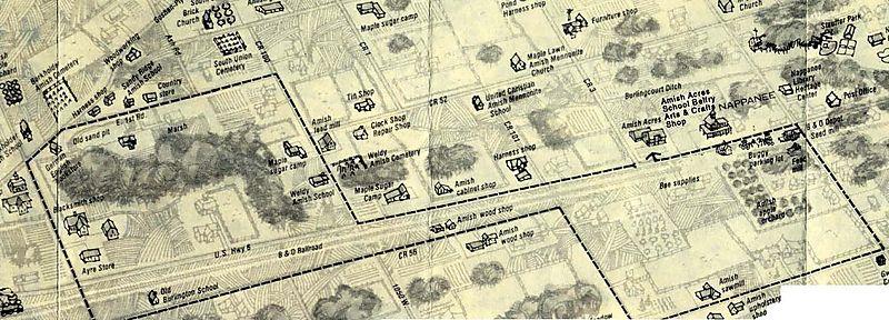 Nappanee Map Amish Acres