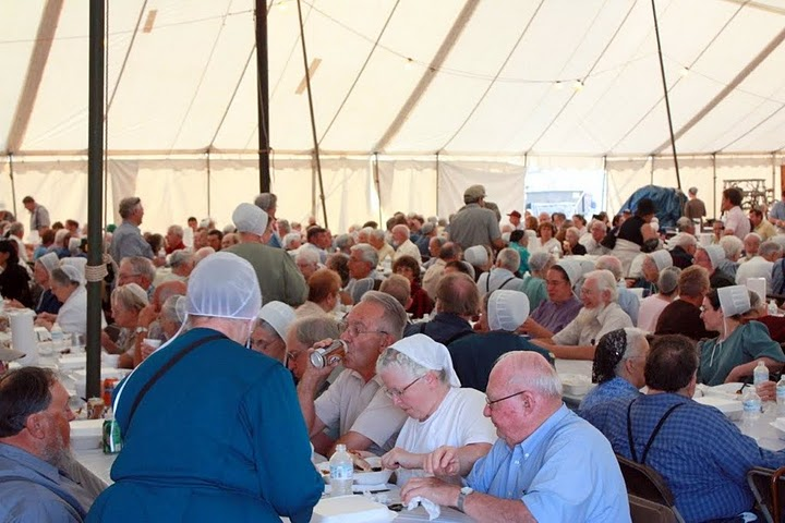 Haiti amish auction tent